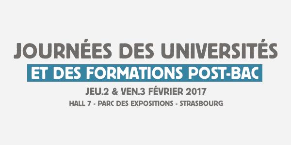 2 & 3 février 2017: Journées des Universités à Strasbourg