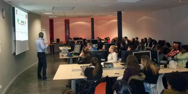 Le Lycée Albert de Mun (Paris) en visite à l'ISTA