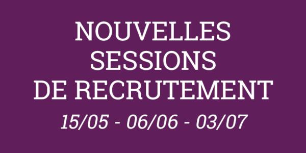 3 nouvelles sessions de recrutement sont planifiées