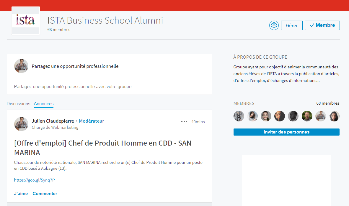ISTA Business School Alumni LinkedIn