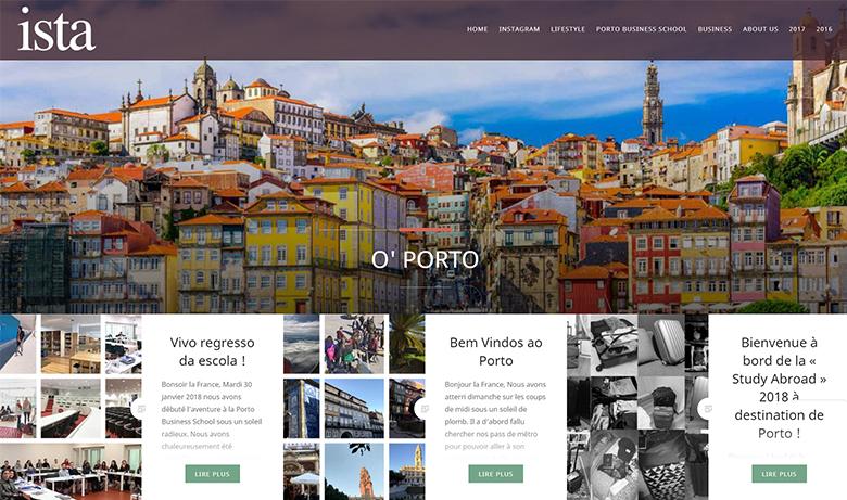 Le blog O'Porto vous permet de suivre quotidiennement les aventures de la 30ème promotion ISTA