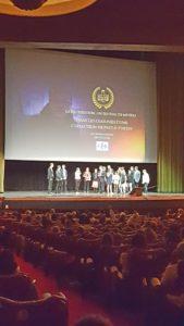 Equipe ISTA lors de la cérémonie de remises des prix - concours jefilmelemetierquimeplait