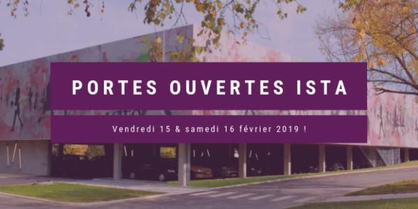 Journées Portes Ouvertes ISTA: 15 & 16 Février 2019
