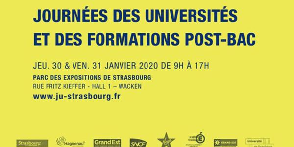 Rencontrez-nous lors des Journées des Universités à Strasbourg les 30 & 31 janvier 2020!
